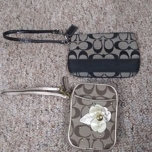 Bundle of Coach wristlets